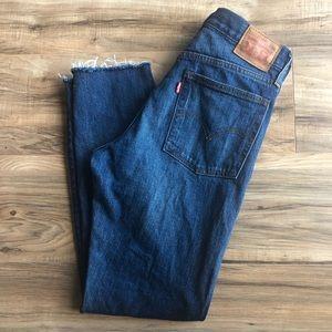Levi's Jeans with Frayed Hem